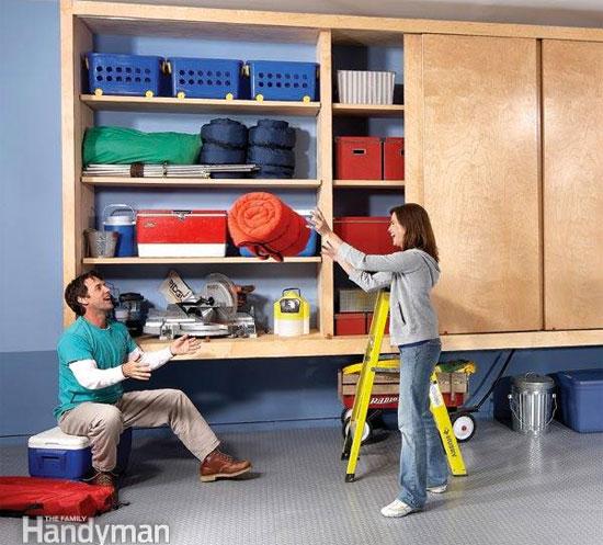 Garage Cabinet Closet with Sliding Doors
