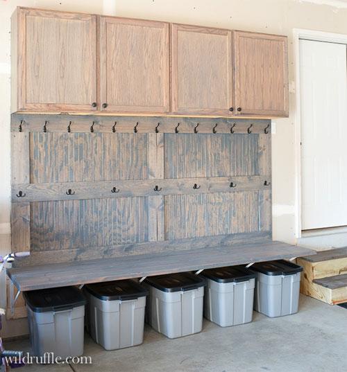 Garage Mudroom DIY