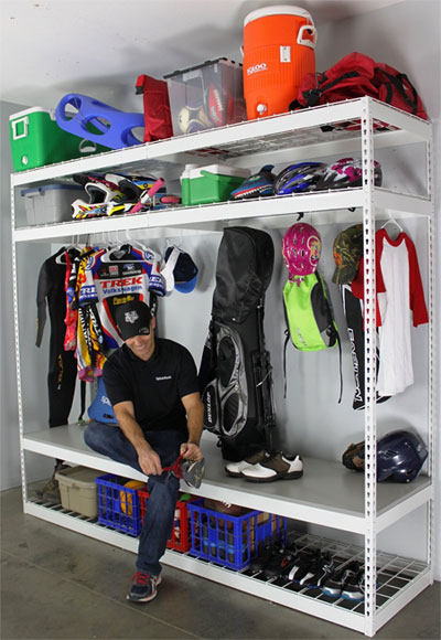 Garage Shelving Rack For Sports Equipment
