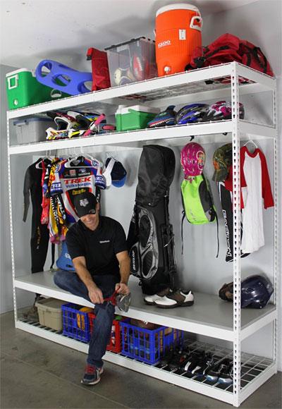 Garage Shelving Rack for Sports Equipment