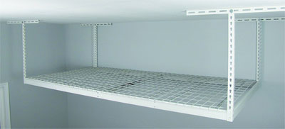 Empty 8 x 4 Overhead Storage Rack in Garage
