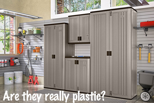 Make Easy Garage Lockers with Plastic Storage Cabinets