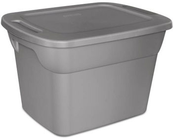 18 Gallon Grey Plastic Storage Bin for Bin Warehouse Stacking Storage System