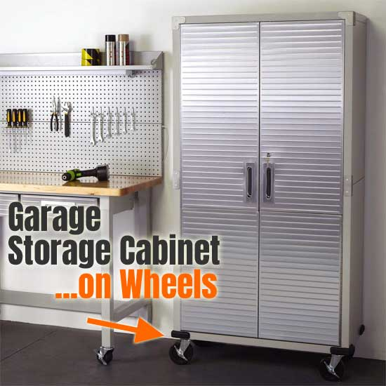 How To Use A Tall Metal Storage Cabinet On Wheels
